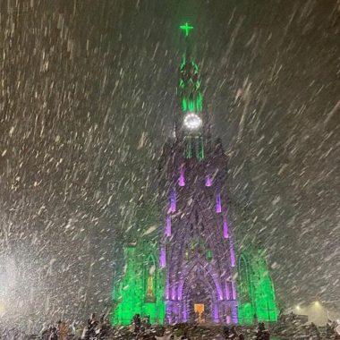 Nieve en Catedral de Pedra de Canela, Brasil